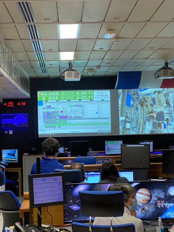 Opérations de l'expérience Télémaque au CADMOS en juillet 2021
