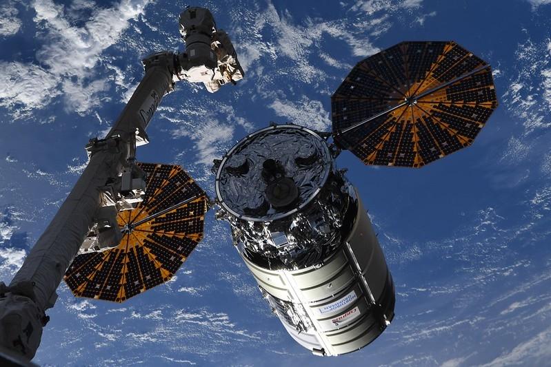Amarrage du cargo Cygnus NG-16 à l'ISS en août 2021
